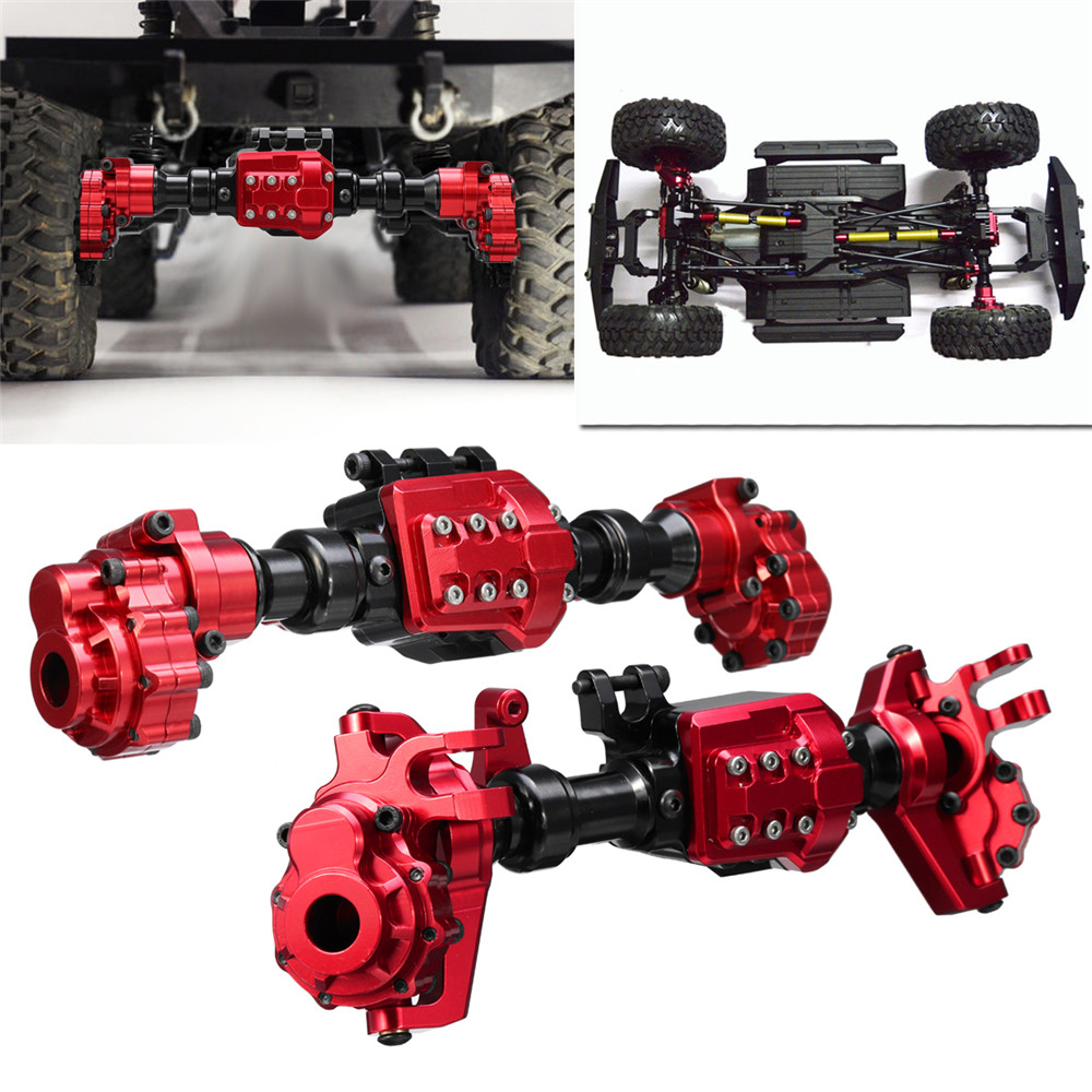 CNC Machined Aluminum Front Rear Portal Axle Housing Red Color for Traxxas TRX-4 Crawler red