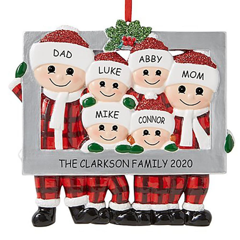 Christmas Hanging Pendant Santa Claus Shape Decoration for Xmas Tree Ornament 6 people