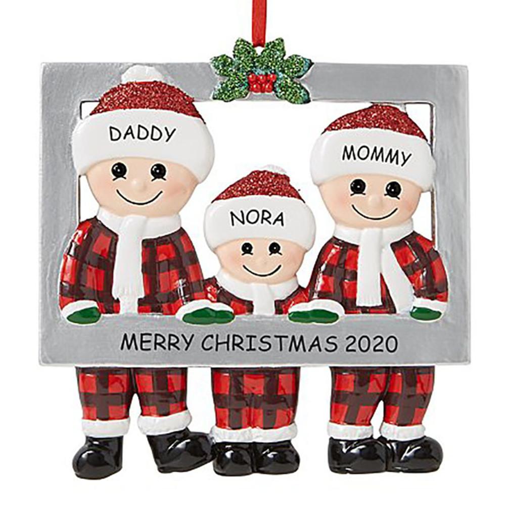 Christmas Hanging Pendant Santa Claus Shape Decoration for Xmas Tree Ornament 3 people