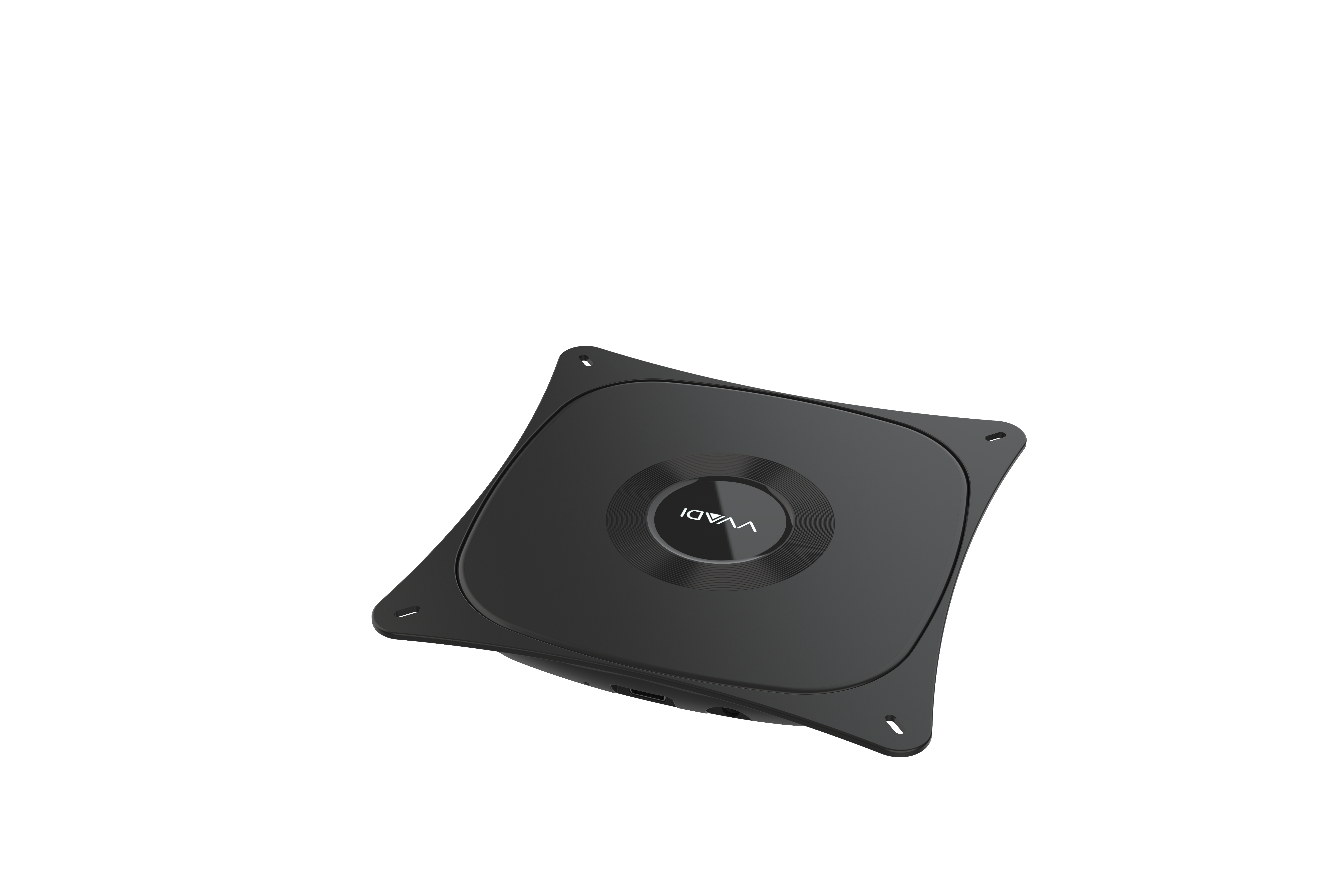 K04 Wireless Charger 10w Fast Charge Support Qi Standard 6-20mm for Hotel Restaurant Airport black