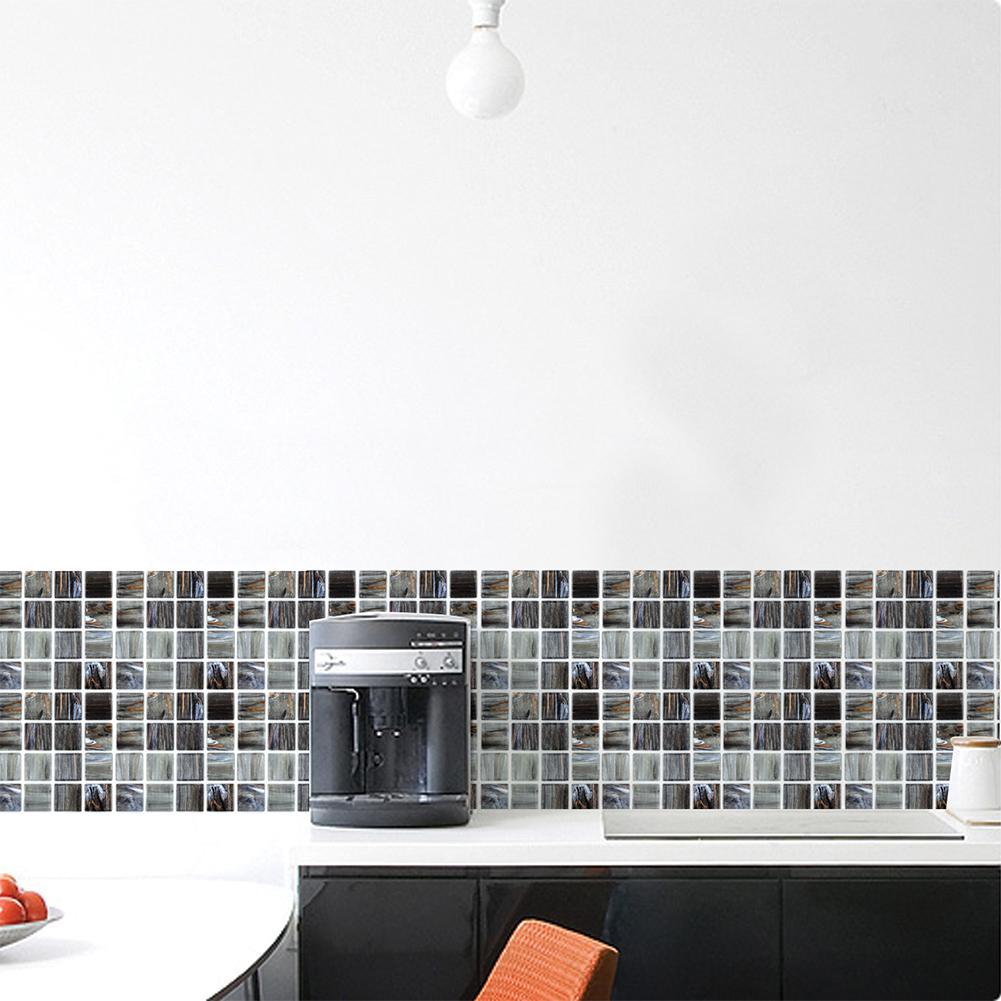 Waterproof Self Adhesive Mosaic Tile Sticker for DIY Kitchen Bathroom Decor FX708