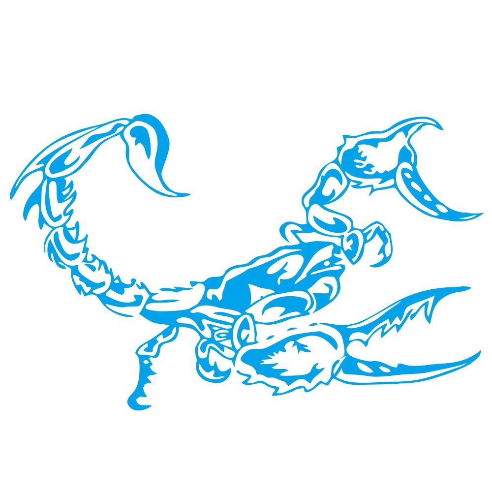 3D Car Scorpion Stickers Stylized Vinyl Car Stickers Decoration Accessories blue