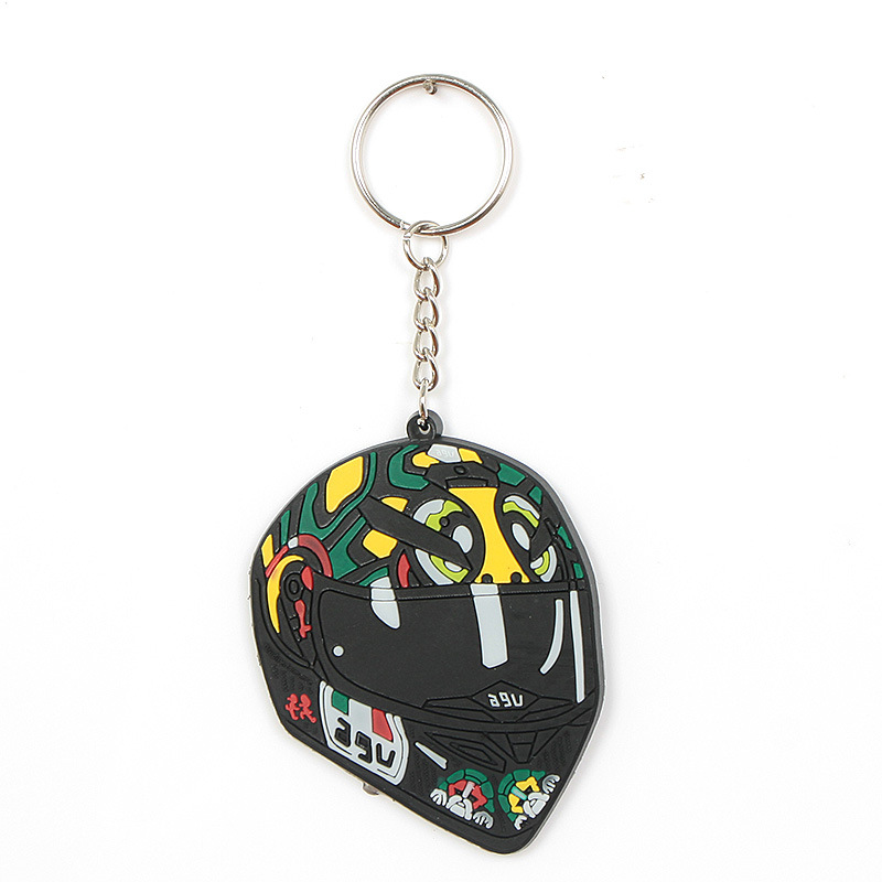 Mini Motorcycle Key Ring Fashion Design Rubber Keychain Pendant for Key Decoration D