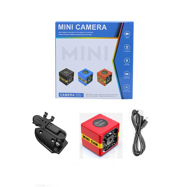 FX01 Mini Camera HD 1080P Sensor Night Vision Camcorder Motion DVR Micro Camera Sport DV Video Small Camera  red