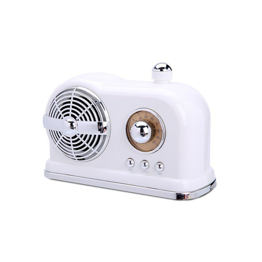 HM10 Retro Bluetooth Subwoofer Hot Hatch Wireless Locomotive Mini Speaker white_Standard