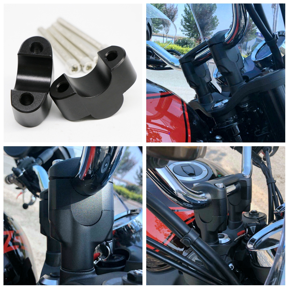 For Kawasaki Z900RS 17-19 Motorcycle Modification Handlebar Risers/Height up Adapters black