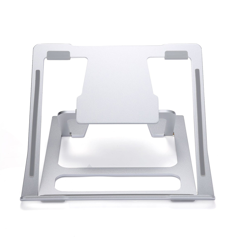Laptop Stand Portable Adjustable Foldable Aluminum Lift Computer Cooling Base Desktop Stand Silver