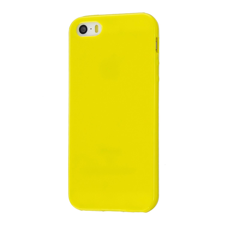 For iPhone 5/5S/SE/6/6S/6 Plus/6S Plus/7/8/7 Plus/8 Plus Cellphone Cover Soft TPU Bumper Protector Phone Shell Lemon yellow