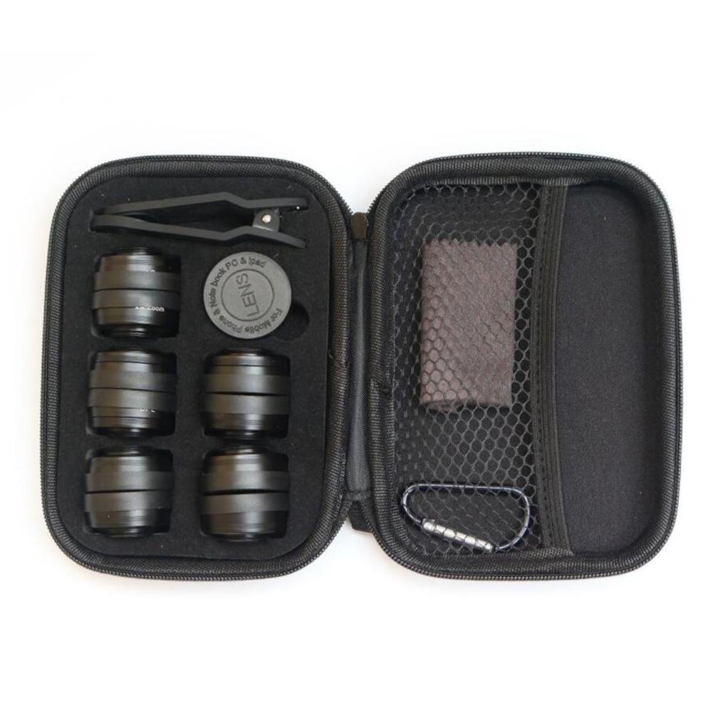 Mobile Phone Lens Wide-angle Macro Fisheye Increase UV Gradient Mirror CPL Starlight 10pcs/set black