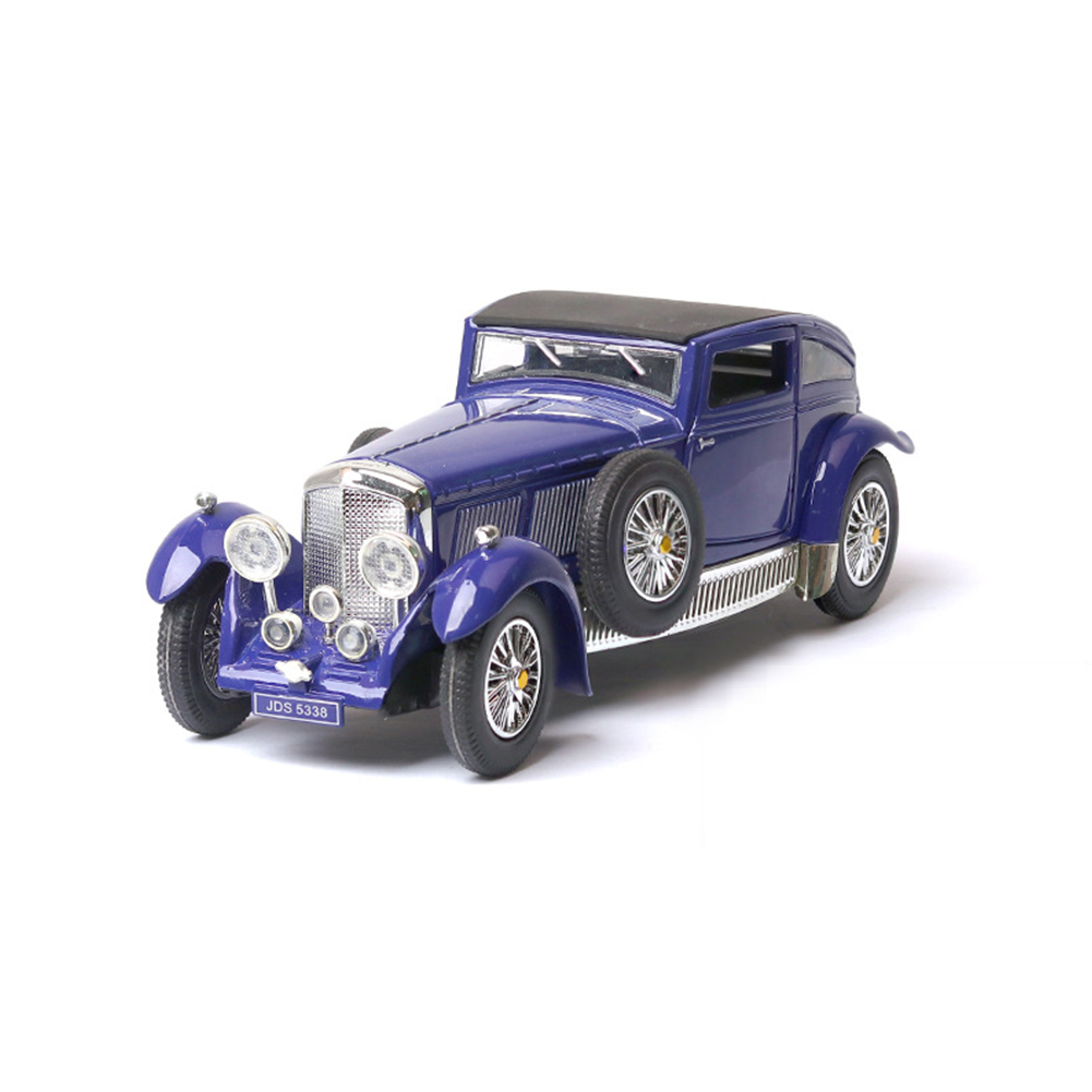 Antique Light Sound Pull Back Car Modeling Toy for Bentley 8L Collection(Box Packing) blue