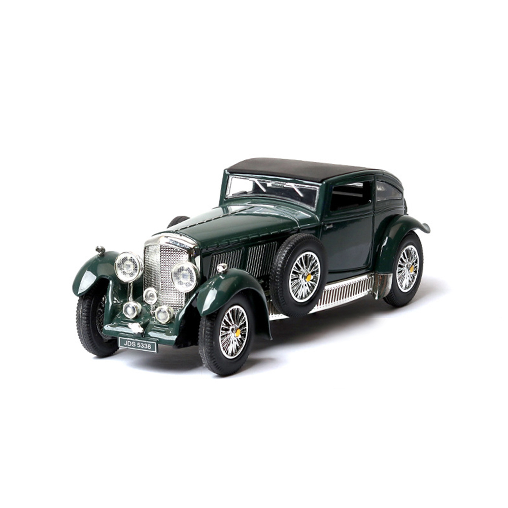 Antique Light Sound Pull Back Car Modeling Toy for Bentley 8L Collection(Box Packing) green