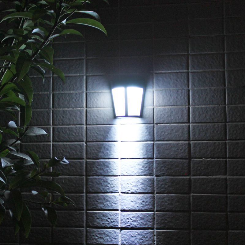 6LED Solar-Powered Energy Saving Waterproof Lamps Wall Lights for Yard Garden  White light