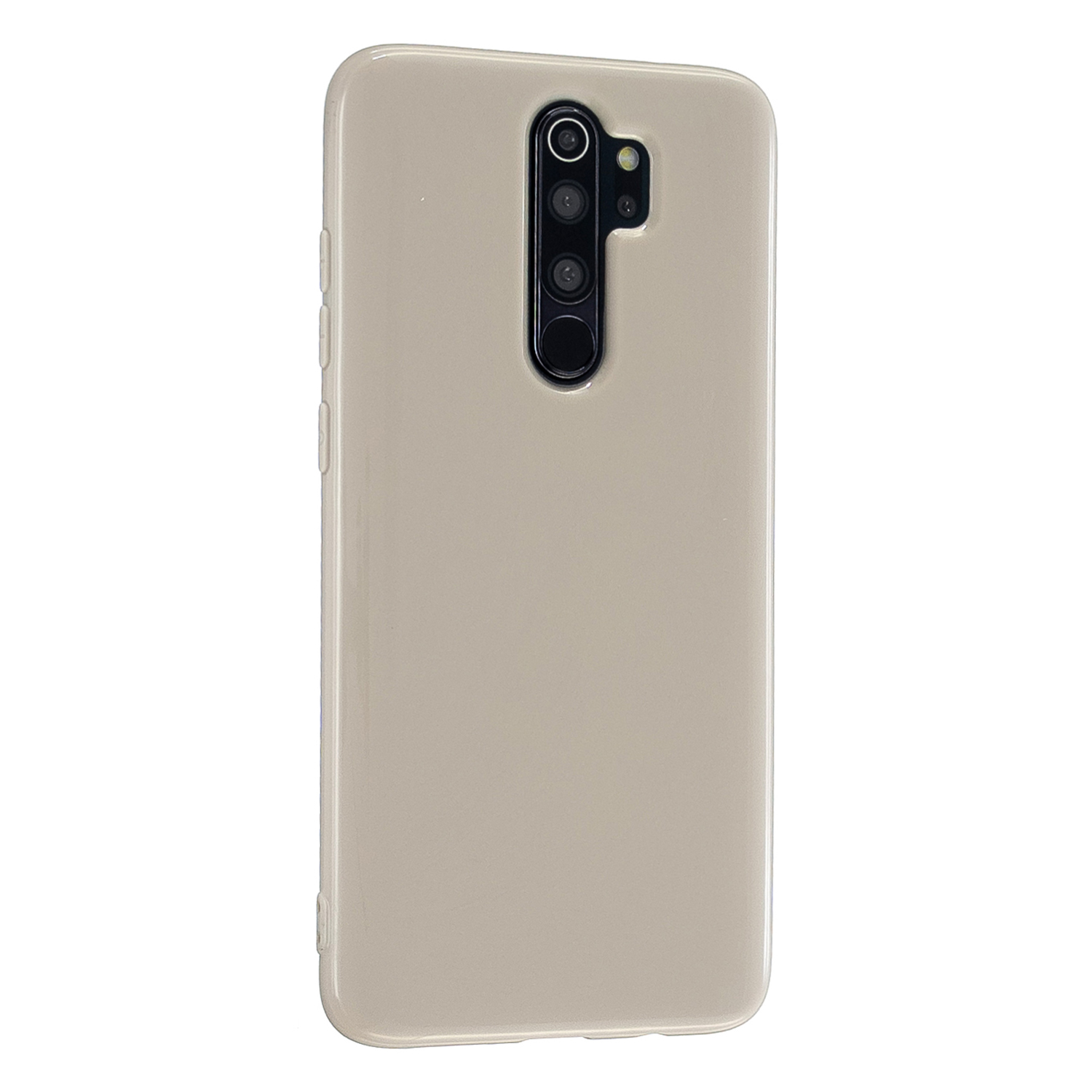 For Redmi Note 8/8 Pro Cellphone Cover 2.0mm Thickened TPU Case Camera Protector Anti-Scratch Soft Phone Shell Khaki