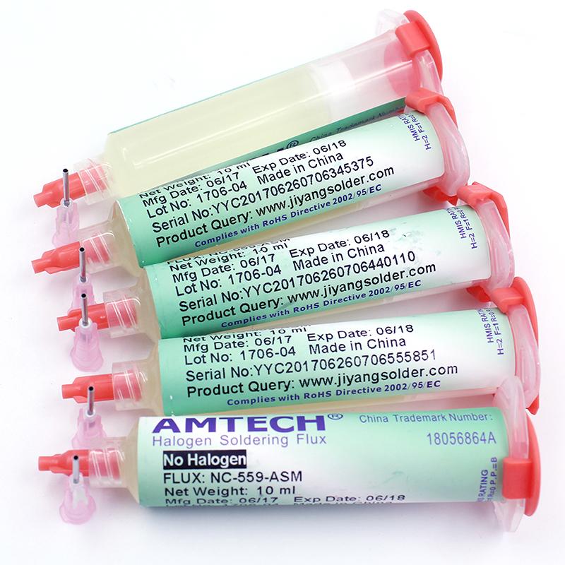 1/2/5 Pcs NC-559-ASM BGA PCB No-Clean Solder Paste Welding Oil Flux Grease 10cc Soldering Repair Tools  5PCS