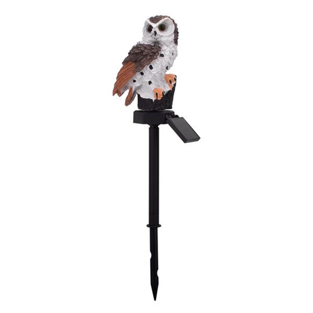 [US Direct] Led Garden Lights Solar Night Lights Owl Shape Solar-powered Lawn Lamp brown
