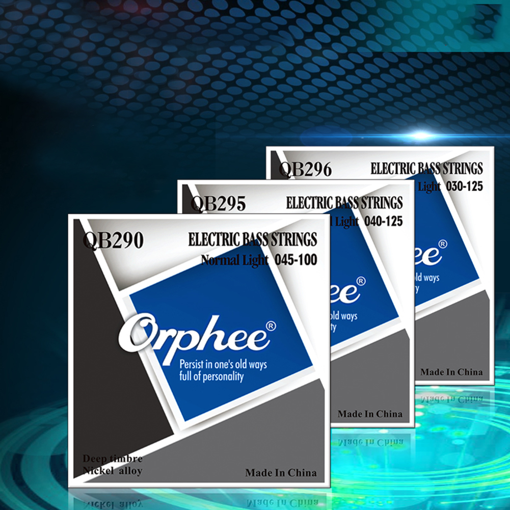 Orphee QB Series 4/5/6 Pcs Electric Bass Strings Normal Light Nickel Alloy Hexagonal Core Electric Bass Parts QB296/6 string