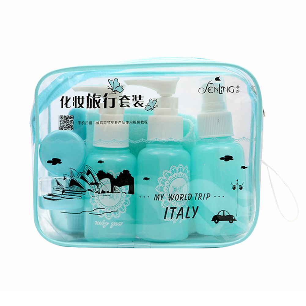 10 Pcs/set Portable Travel Cosmetics Bottling Suit Pressed Bottle Perfume Spray Bottle