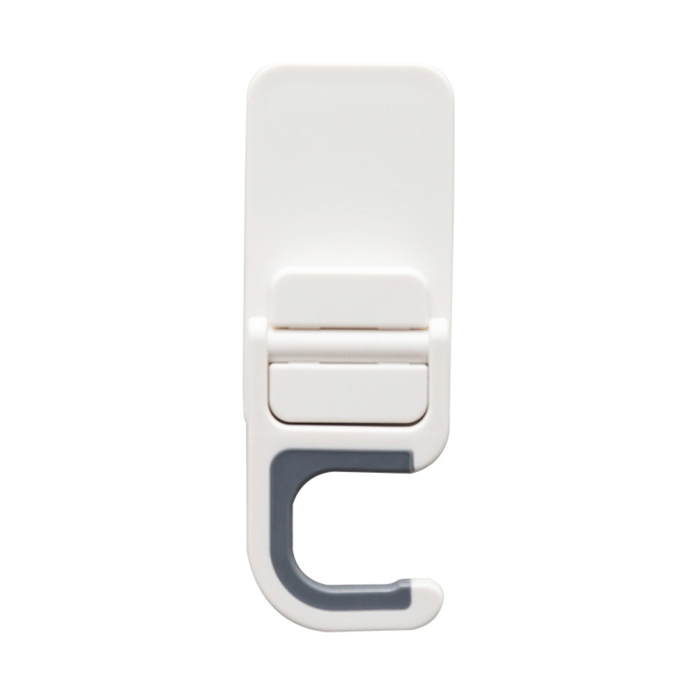 Self Adhesive Adjustable Hanging Hook for Home Bathroom Mop Broom Storage white