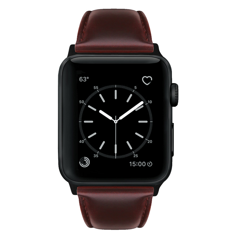 Retro Vintage Leather Strap Replacement Watchband for Apple Watch Series 3 /2 / 1 42mm/38mm 38mm red brown