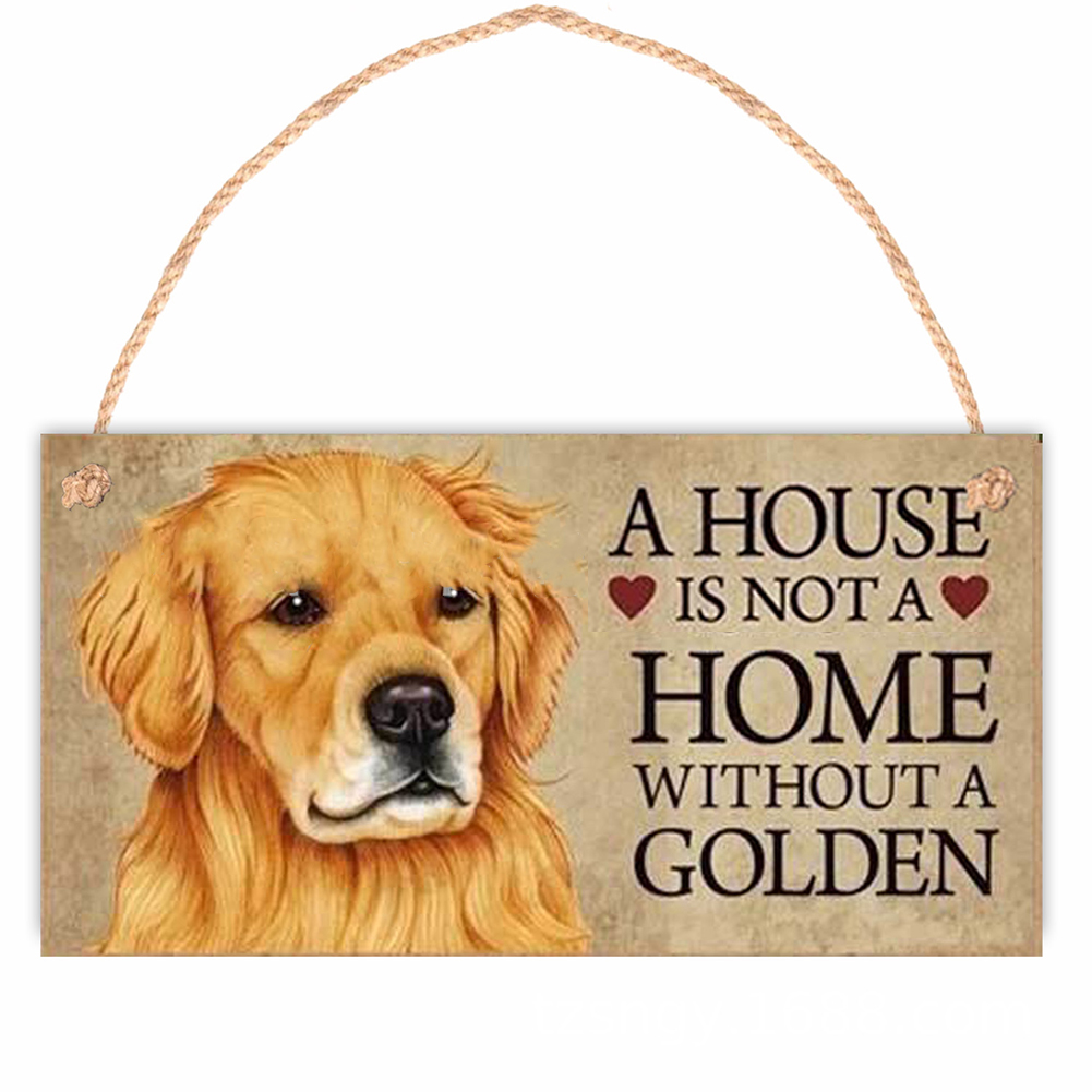 Welcome Sign Door Hanging Board Animal Print Wooden Pendant Home Decorative  Ornaments D_20*10cm