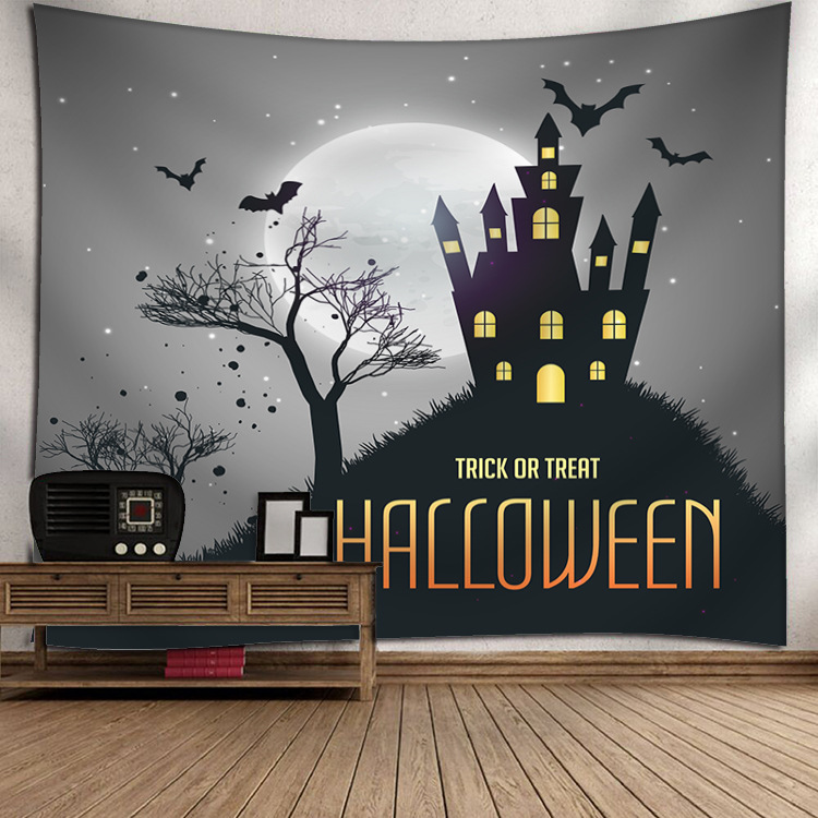 Indian Tapestry Wall Hangings Fun Halloween Pumpkins Home Decor Tapestries 7_150*130