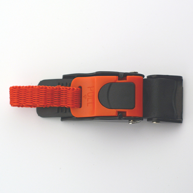 Helmet Safety Quick-release Buckle 9 Gear Quick Professional Chin Strap Buckle as shown
