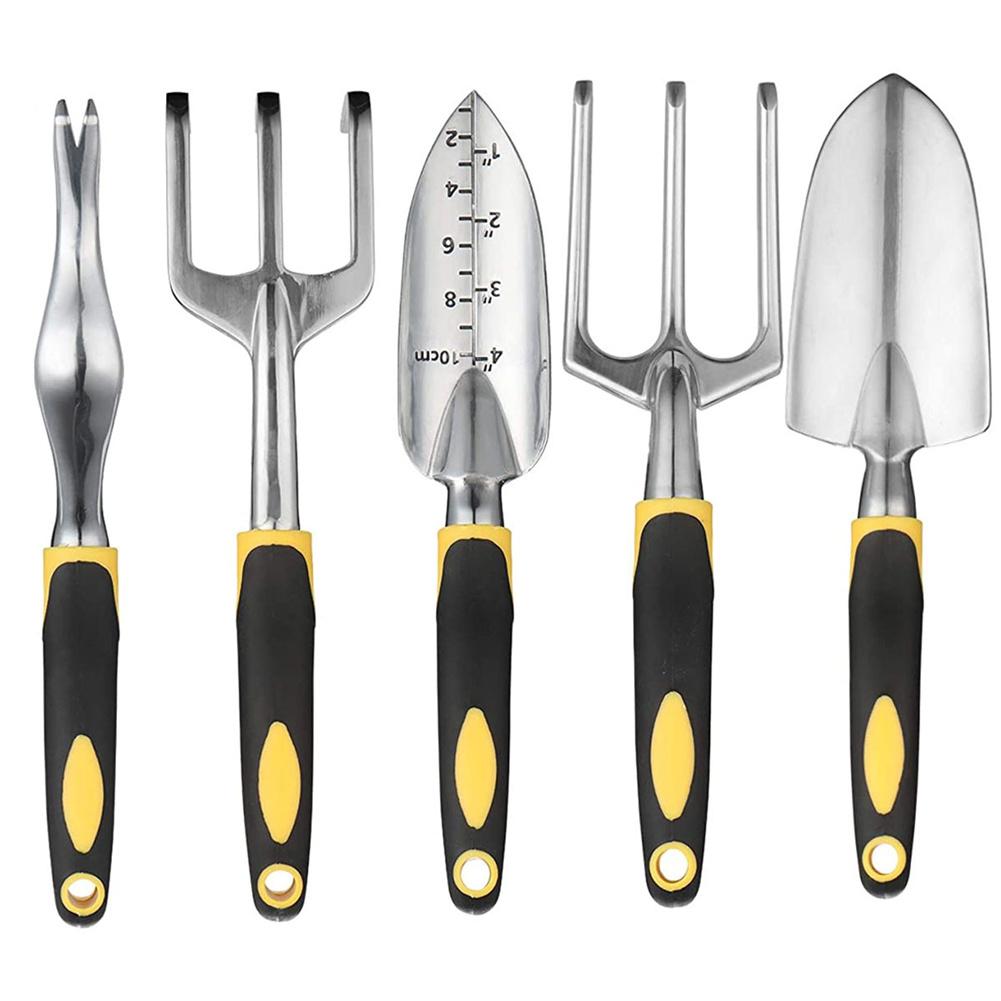 5pcs/set Garden  Tool  Kit Hand Trowel Bonsai Shovel Cultivator Weeding Tools Garden Lawn 5-piece set