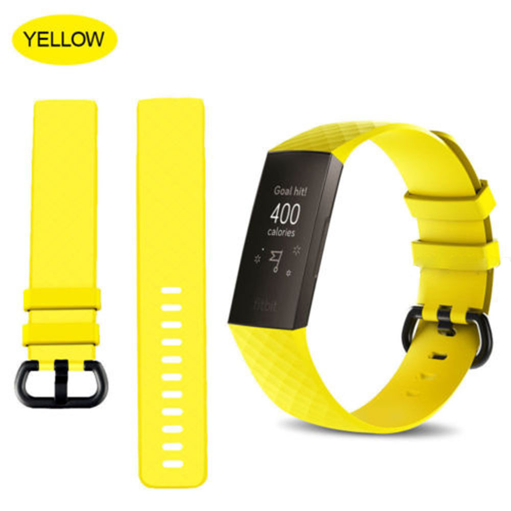 for Fitbit Charge 3 Replacement Band Silicone Strap Sports Wristband yellow_small