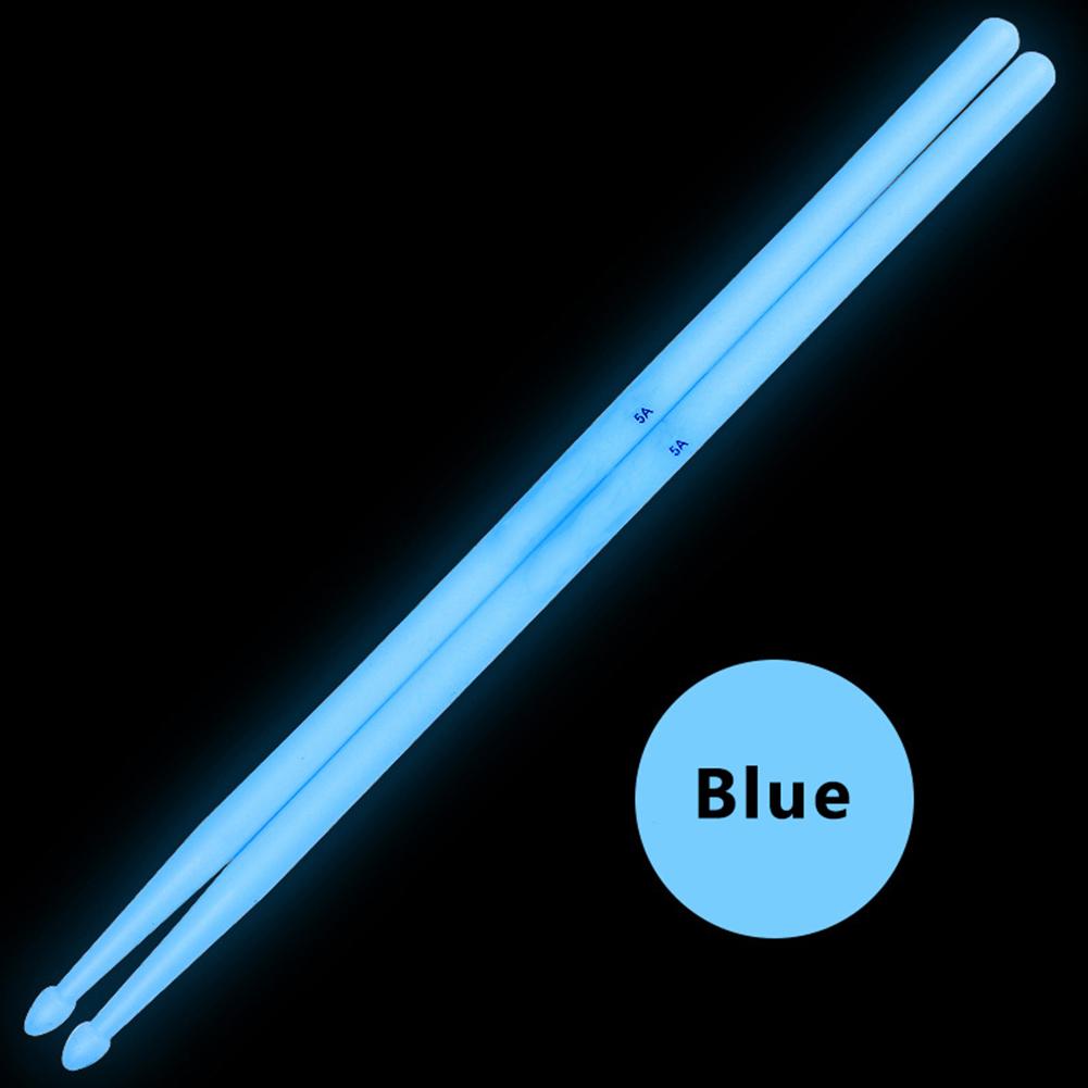 2 Pcs Noctilucent 5A Drum Stick Stage Performance Luminous Lighting Drumsticks Drum Sticks blue