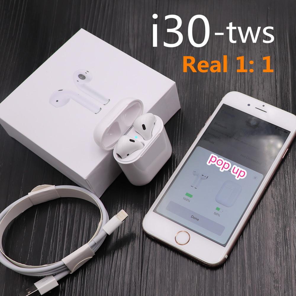 i30 TWS 1:1 Size Replica Wireless Earphone 6D Super Bass Bluetooth 5.0 Earphone