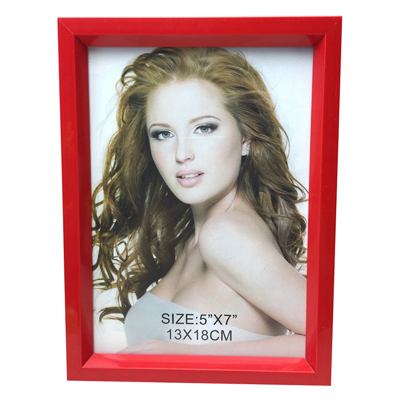 Creative Simple 7 inch Room Office Decor Plastic Picture Photo Wall Frame Stylish Colorful Photo Pendulum Red_7 inch