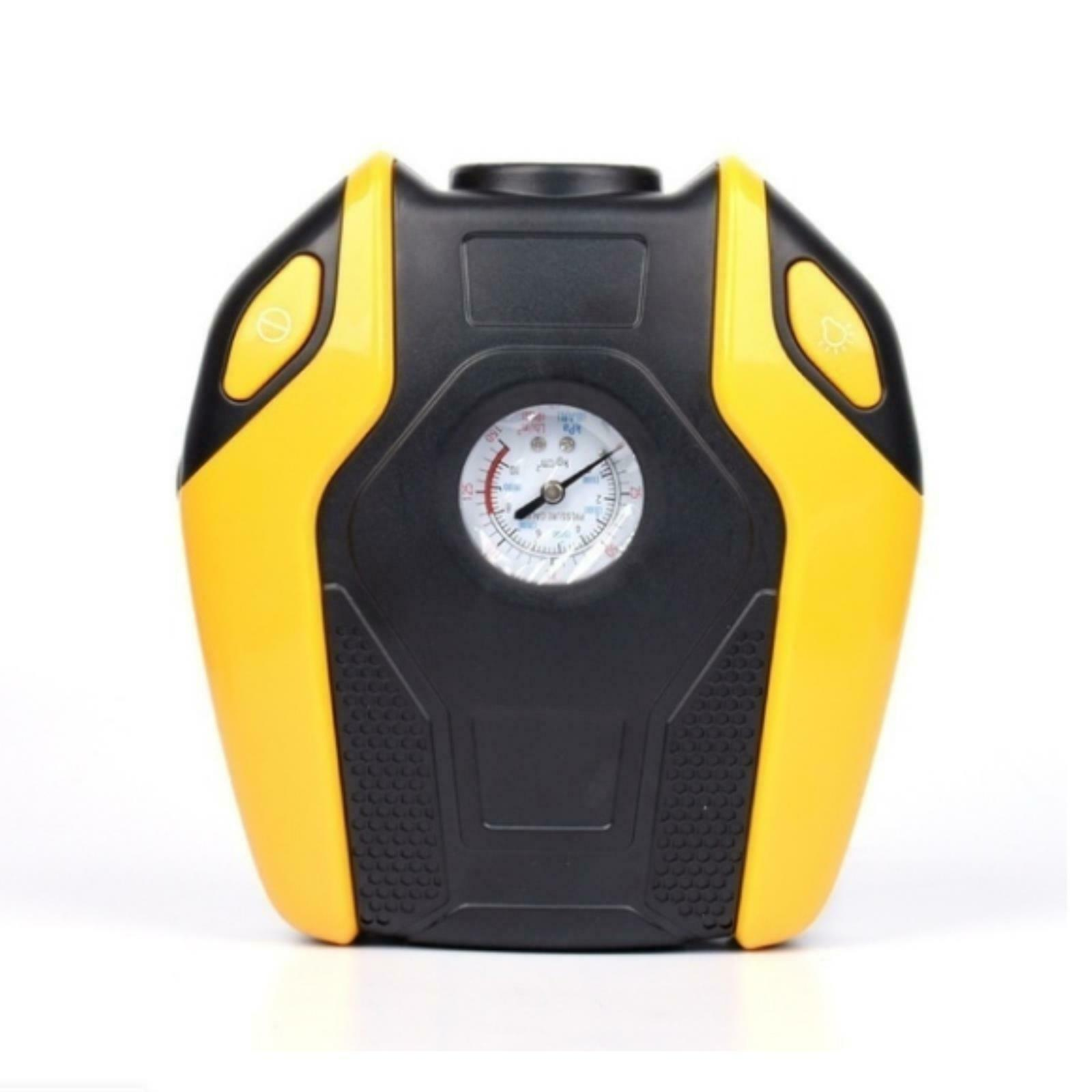12V Portable Air Compressor Pump Tire Inflator Car Truck Bicycle Supplies Yellow