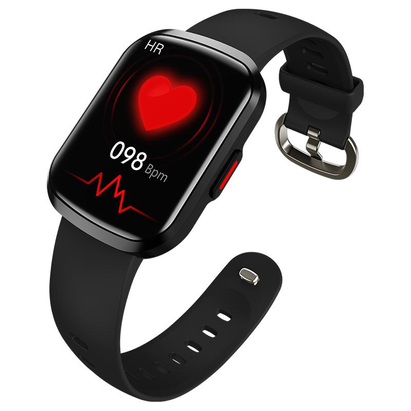 Hw13 Smartwatch Heart Rate Monitor 3d Dynamic Split Screen Display Fitness Band Waterproof Smart Watch black