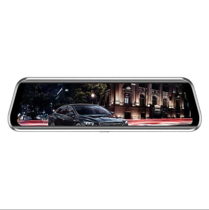 9.66 Inch Touch Car Rearview Mirror DVR Camera 2.5D IPS 1280*480 screen + full screen touch Support 1080p front recording 2MP camera 9.66 inch screen Dashcam dash cam T900 black