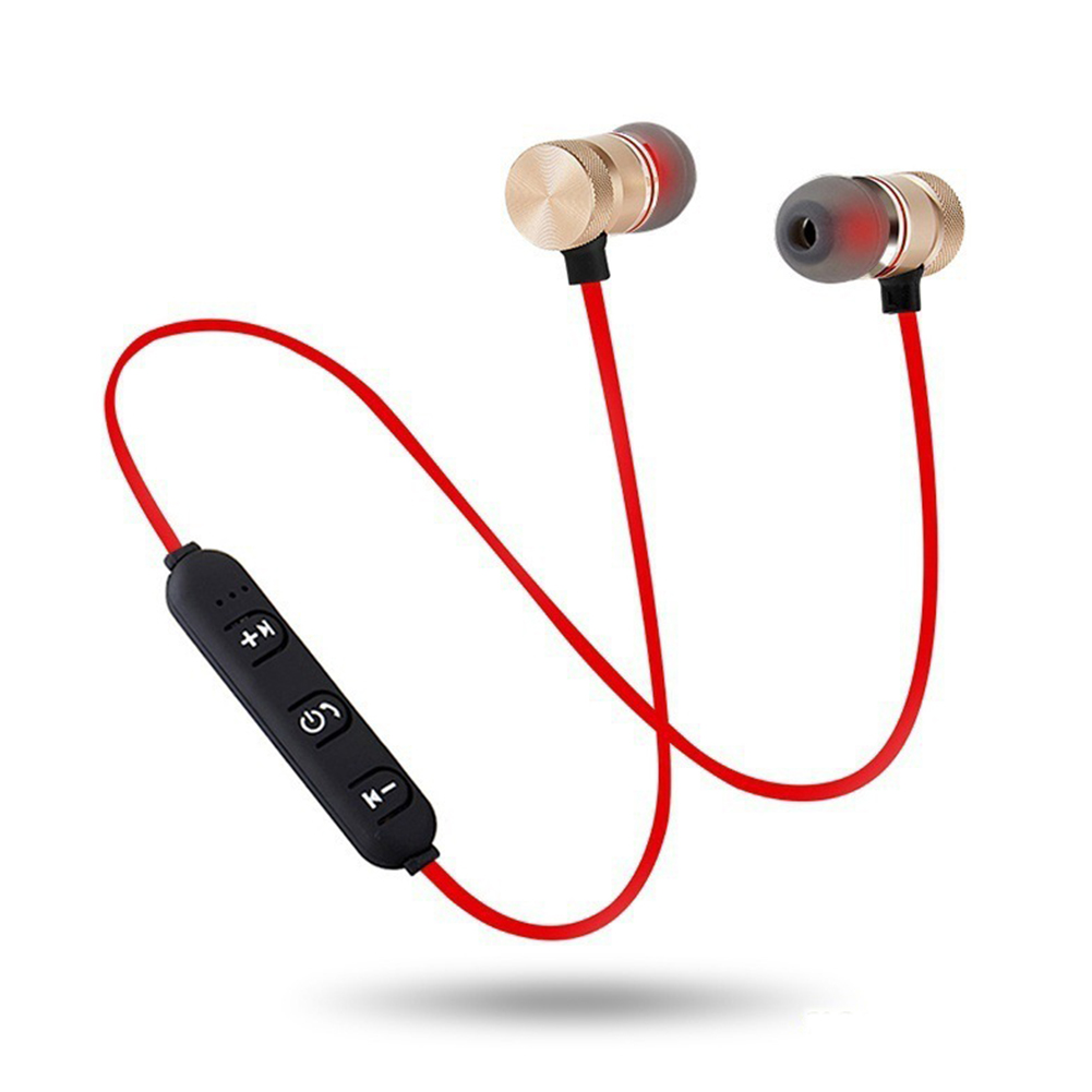 Magnet Wireless Stereo Earphones - Red