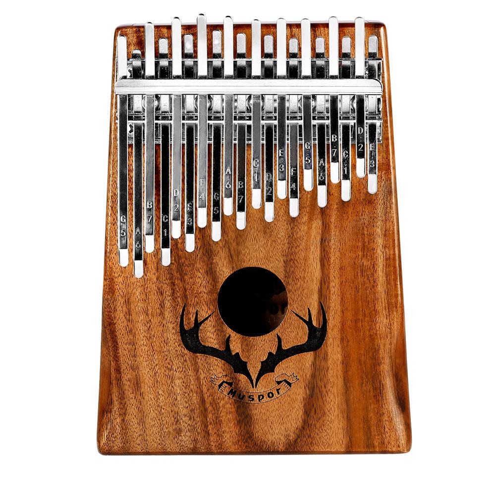 Muspor Double Layer 20 Keys Kalimba with Tuning Hammer(Carton Packing) 20 sounds