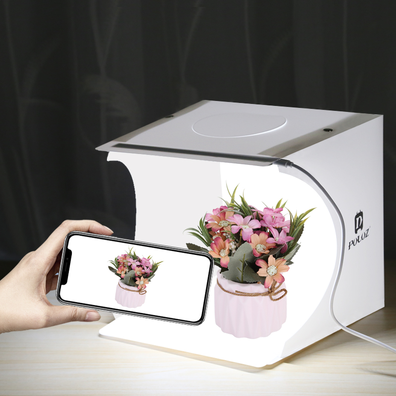 PULUZ Mini Photo Studio 20cm Foldable Light Photo Tent White Portable Lighting Studio Shooting Box 20cm x 20cm