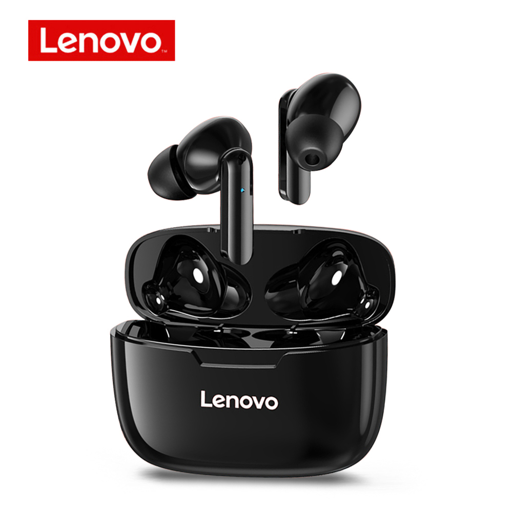 Original LENOVO Wireless Earphones Xt90 Tws Bluetooth 5.0 Sports Headphone Touch Button Ipx5 Waterproof Earplugs Black