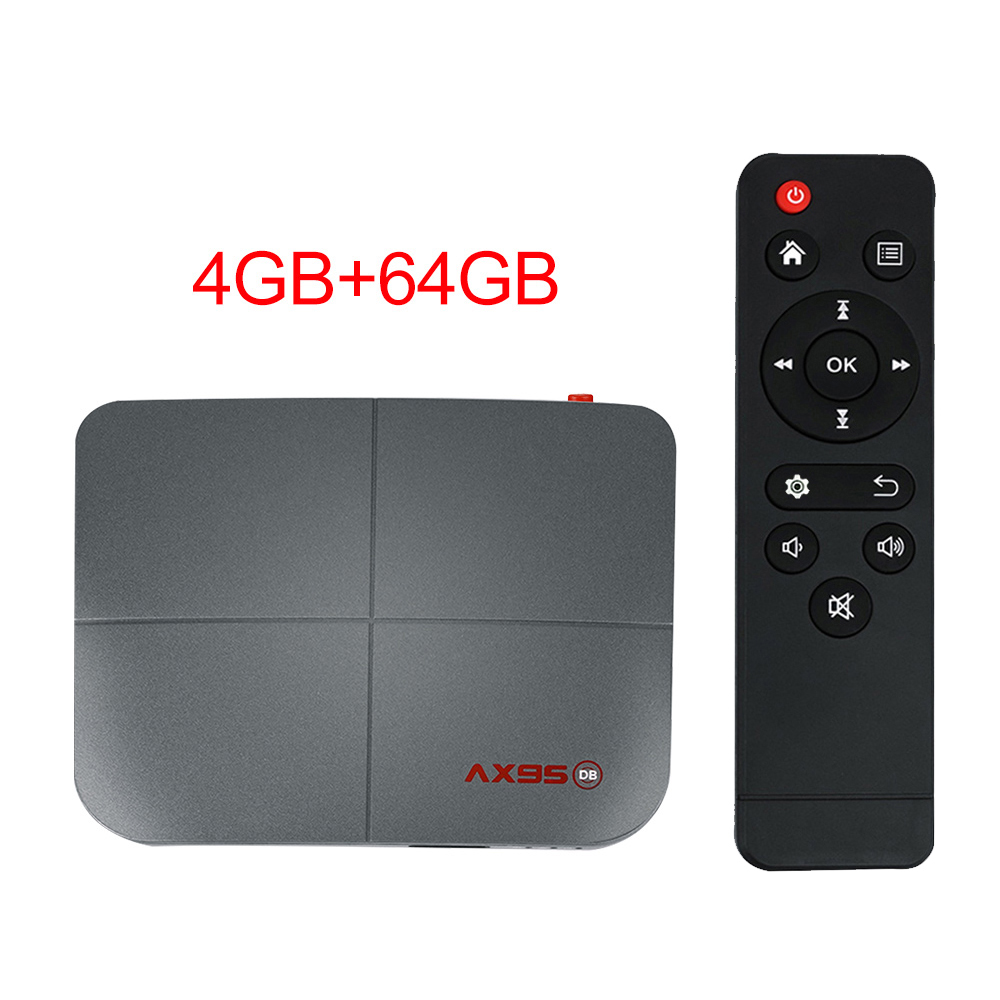 1 Abs Material Ax95 Smart Tv  Box Android 9.0 Supports Dolby Tv Version Google Store 4+64G_British plug
