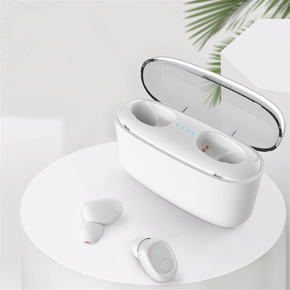 Headphone Single Earbud/Dual Earbuds Wireless Bluetooth 5.0 Sports TWS In-ear Headset white_Dual Earbuds