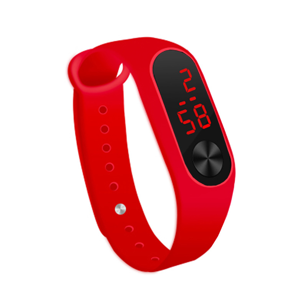 LED Simple Watch Hand Ring Watch Led Sports Fashion Electronic Watch red