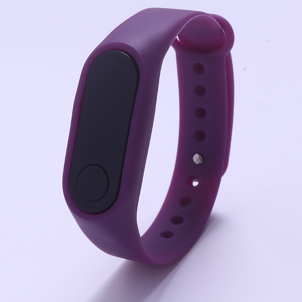 LED Simple Watch Hand Ring Watch Led Sports Fashion Electronic Watch purple