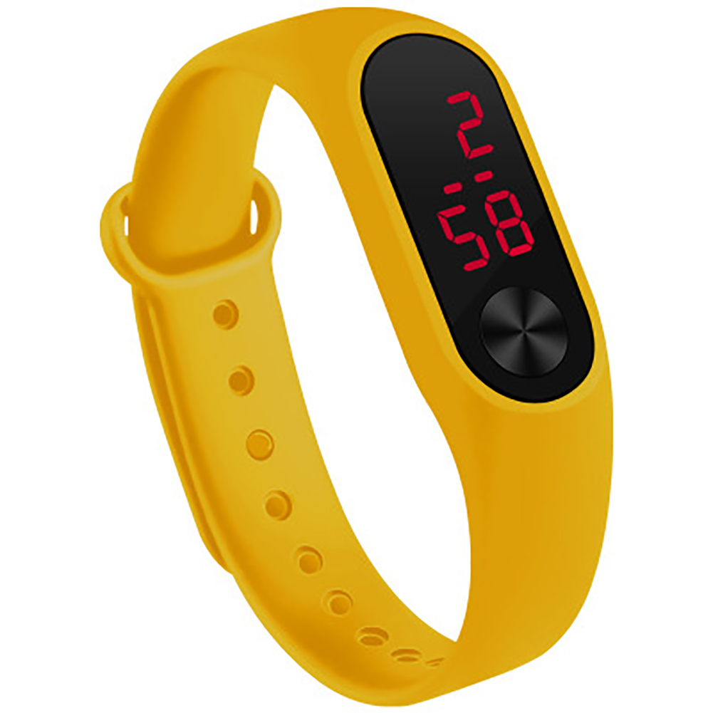 LED Simple Watch Hand Ring Watch Led Sports Fashion Electronic Watch yellow