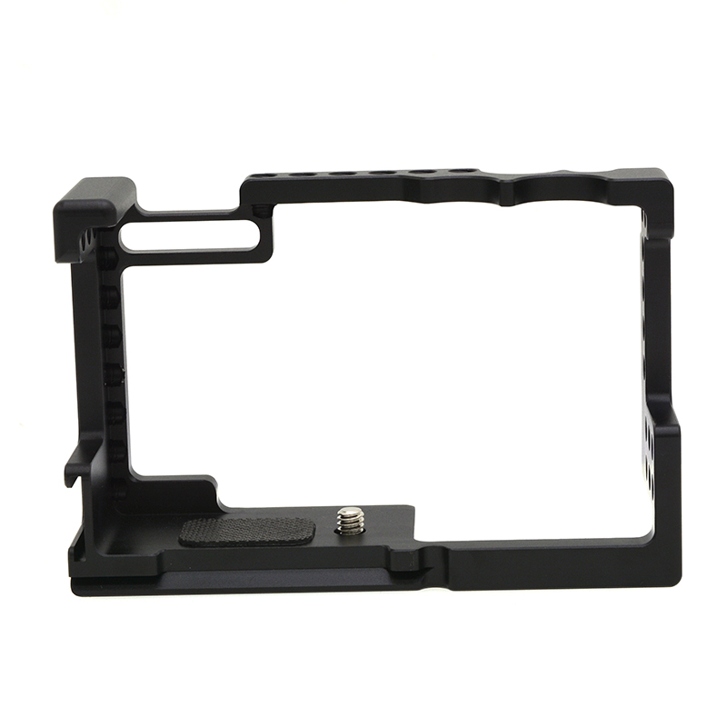 Camera Cage for Canon M6 Mark Ii Thread Hole to Top Handle Monitor Microphone Led Light black