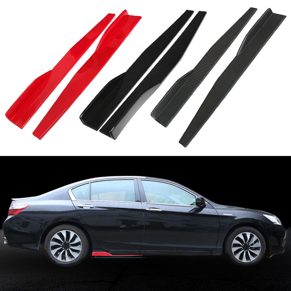 1 Pair Universal Car Side Skirt Splitters Winglet Side Wings Bumper Car Bumper Body Side Skirts Carbon fiber color