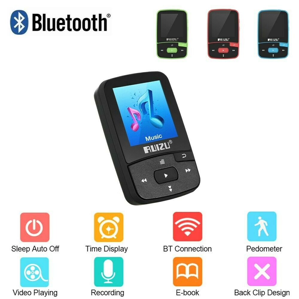 RUIZU X50 MP3 MP4 Music Player 1.5inch Screen Wireless Support Bluetooth4.0 300mAh Battery Lossless FM Radio APE/FLAC/WAV Black