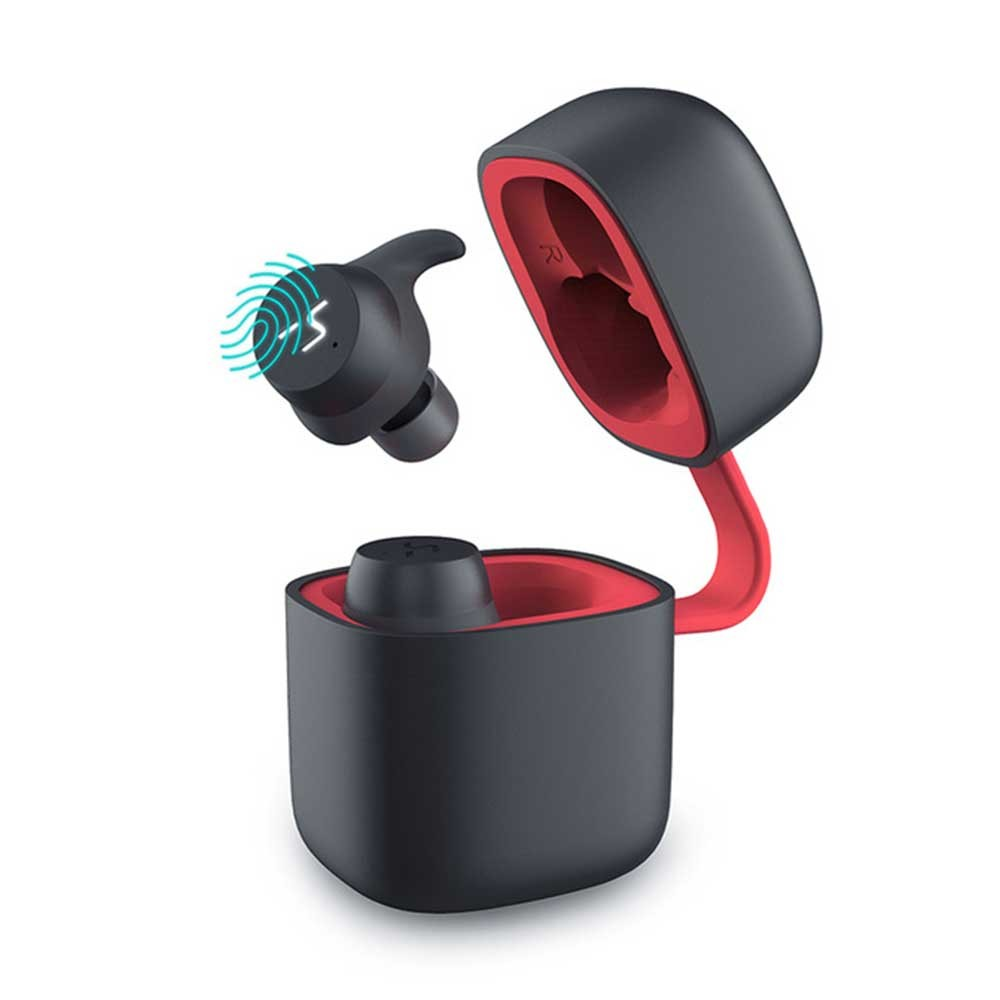 Havit G1 Pro Bluetooth Earphone Wireless TWS Sport Headset IPX6 Touch Screen Panel Earbuds With Microphone red