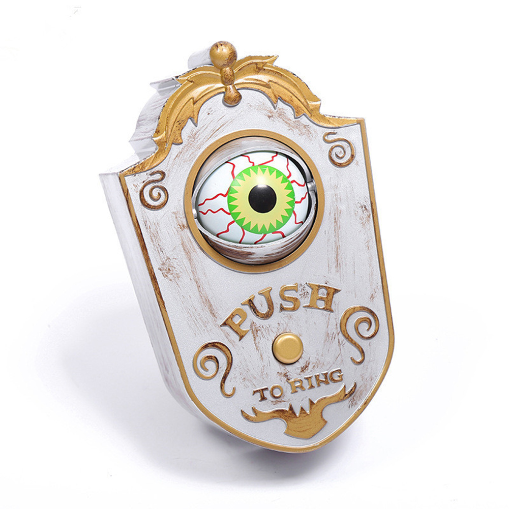 Scary One Eyed Doorbell for Halloween Home Door Decoration white