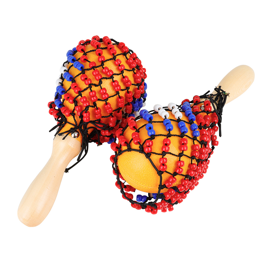 1 Pair Portable Size Baby Music Toys Kids Sand Hammer Early Education Tool Rattle Musical Instrument Color