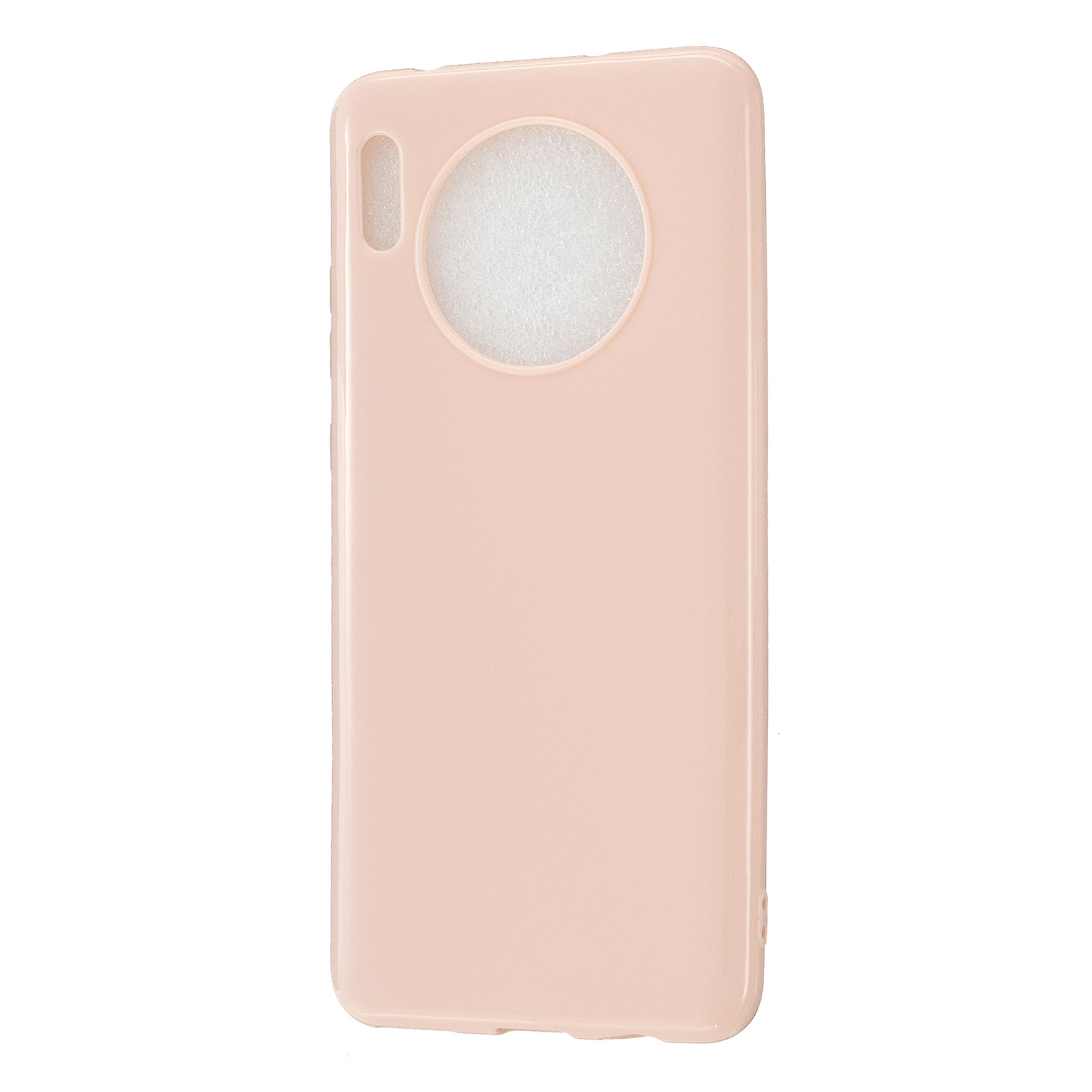 For HUAWEI Mate 30/30 Lite/30 Pro Cellphone Case Simple Profile Soft TPU Shock-Absorption Phone Cover Sakura pink